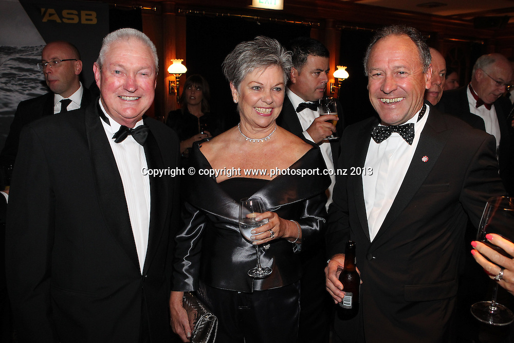 Bob and Kerry McMillan with Ralph Norris at the ASB cocktails during an evening with Americas Cup yachtsmen Sir Russell Coutts and Grant Dalton at The Langham, Auckland, Friday May 3, 2013 to raise funds for David Barnes and Rick Dodson who suffer from multiple sclerosis ands plan to compete in the 2016 Paralympics in Rio. Photo: Fiona Goodall/photosport.co.nz