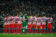 01.NOVEMBER.2012. MADRID<br /> <br /> REAL MADRID V ATHLETICO DE MADRID AT THE ESTADIO SANTIAGO BERNABEU. REAL BEAT ATHLETICO 2-0 WITH GOALS FROM CRISTIANO RONALDO AND MESUT OZIL.<br /> <br /> BYLINE: EDBIMAGEARCHIVE.CO.UK<br /> <br /> *THIS IMAGE IS STRICTLY FOR UK NEWSPAPERS AND MAGAZINES ONLY*<br /> *FOR WORLD WIDE SALES AND WEB USE PLEASE CONTACT EDBIMAGEARCHIVE - 0208 954 5968*