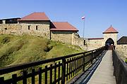 Ruins of mediaeval of castle in Dobczycach, Poland