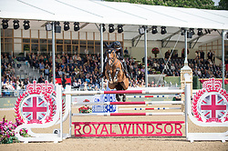 Lamaze Eric, CAN, Fine Lady 5<br /> Rolex Grand Prix Jumping<br /> Royal Windsor Horse Show<br /> © Hippo Foto - Jon Stroud