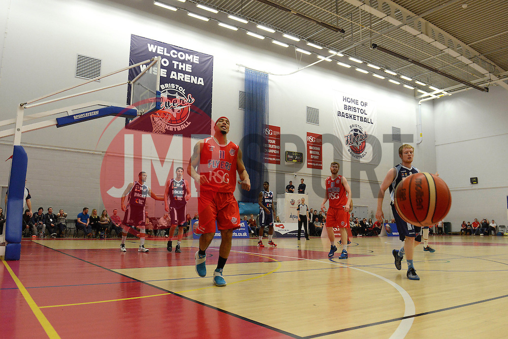 Greg Streete of Bristol Flyers cuts a dejected figure as the ball goes out of play - Mandatory byline: Dougie Allward/JMP - 12/03/2016 - FOOTBALL - SGS Wise Campus - Bristol, England - Bristol Flyers v Glassgow Rocks - British Basketball League