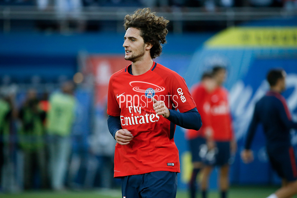 Adrien Rabiot (psg) at warm up during the French championship L1 football match between Paris Saint-Germain (PSG) and Toulouse Football Club, on August 20, 2017, at Parc des Princes, in Paris, France - Photo Stephane Allaman / ProSportsImages / DPPI