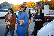 Christine O'Donnell, candidate for U.S. Senate in Delaware arrives to place her vote at Charter School in Wilmington, De Tuesday 2 November 2010. (Photography by Jim Graham)