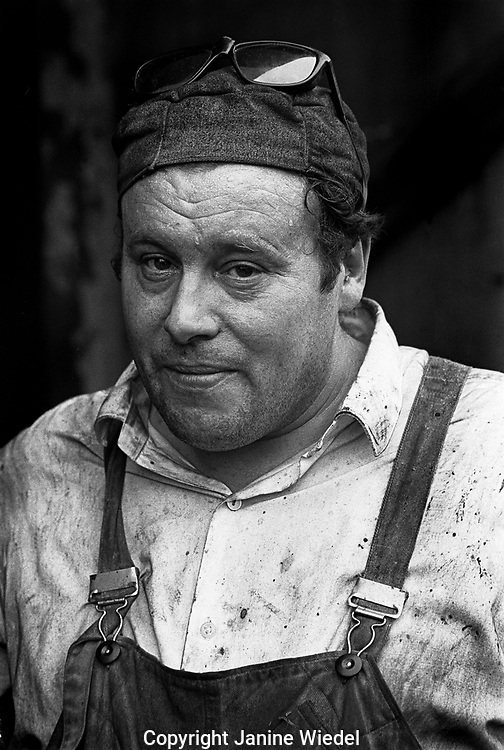 portraits of workers at Smith's drop forge in birmingham 1970s