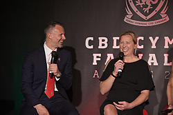 CARDIFF, WALES - Thursday, March 21, 2019: Wales' men's national team manager Ryan Giggs and women's national team manager Jayne Ludlow during the Football Association of Wales Awards 2019 at the Hensol Castle. (Pic by David Rawcliffe/Propaganda)