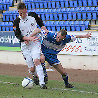 Gretna's Allan Jenkins  and St Johnstone's Willie McLaren in action. Scottish First Division match on 27th January 2007.McDiarmid Park Perth