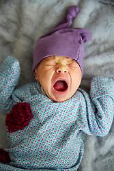Baby Girl Yawning