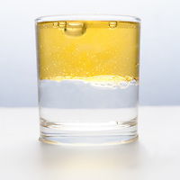 oil drop, glass half empty half full