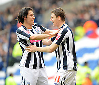 West Bromwich Abion v Leicester City 15/03/08<br /> Robert Koren  (West Brom) celebrates first goal with Zoltan Gera <br /> Photo Roger Parker Fotosports International