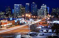 8th Street & Bellevue Skyline (Night)