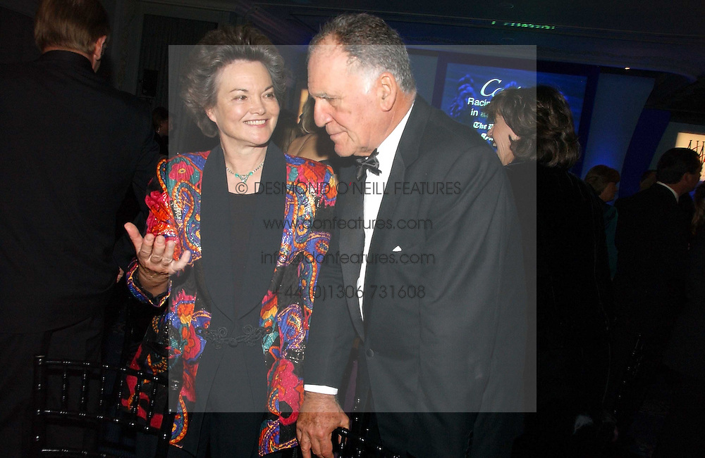 The DOWAGER DUCHESS OF BEDFORD and BARON THIERRY VAN ZUYLEN at the Cartier Racing Awards 2006 held at the Four Seasons Hotel, Hamilton Place, London on 15th November 2006.<br />