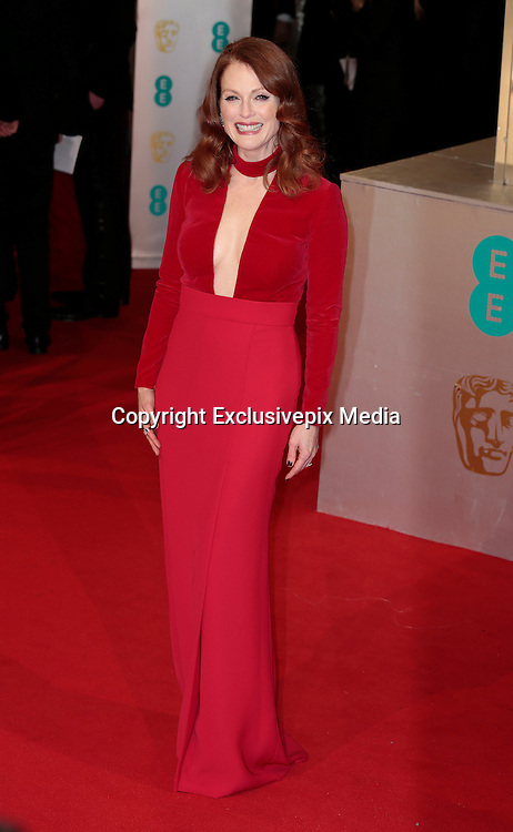 Feb 8, 2015 - EE British Academy Film Awards 2015 - Red Carpet Arrivals at Royal Opera House<br /> <br /> Pictured: Julianne Moore<br /> ©Exclusivepix Media
