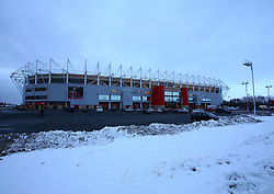 Snow around the Riverside Stadium ahead of Middlesbrough v Leeds United in the Sky Bet Championship - Mandatory by-line: Robbie Stephenson/JMP - 02/03/2018 - FOOTBALL - Riverside Stadium - Middlesbrough, England - Middlesbrough v Leeds United - Sky Bet Championship