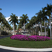 Trump International Golf Club in West Palm Beach, where President Trump frequently plays golf. The club is a short drive from his winter White House Mar-a-Lago in Palm Beach.<br /> Photography by Jose More