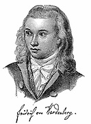 Novalis (1772-1801), pen-name of Friedrich von Hardenberg, German Romantic poet and novelist. Died of consumption. Known as the Prophet of Romanticism.