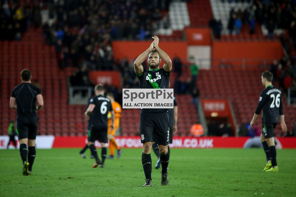 Erik Pieters During Southampton vs Stoke City on Saturday the 21st November 2015.