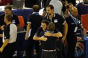 DESCRIZIONE : Madrid Spagna Spain Eurobasket Men 2007 Qualifying Round Italia Turchia Italy Turkey GIOCATORE : Carlo Recalcati <br /> SQUADRA : Nazionale Italia Uomini Italy <br /> EVENTO : Eurobasket Men 2007 Campionati Europei Uomini 2007 <br /> GARA : Italia Turchia Italy Turkey <br /> DATA : 10/09/2007 <br /> CATEGORIA : Esultanza<br />  SPORT : Pallacanestro <br /> AUTORE : Ciamillo&amp;Castoria/N.Parausic <br /> Galleria : Eurobasket Men 2007 <br /> Fotonotizia : Madrid Spagna Spain Eurobasket Men 2007 Qualifying Round Italia Turchia Italy Turkey Predefinita :
