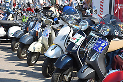 11.06.2015, Biograd, CRO, World Vespa Days 2015, im Bild 5,000 riders from 32 countries are expected to come. // during the World Vespa Days 2015 at Biograd, Croatia on 2015/06/11. EXPA Pictures © 2015, PhotoCredit: EXPA/ Pixsell/ Hrvoje Jelavic<br /> <br /> *****ATTENTION - for AUT, SLO, SUI, SWE, ITA, FRA only*****