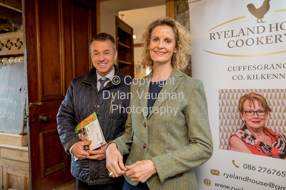 Repro Free No charge for Repro<br /> <br /> 24-4-17<br /> <br /> Helen Carroll of RTE&rsquo;s Ear to the Ground launched the next phase of #TasteKilkenny on Monday, 24th April at a lunch event at Highbank Orchards &amp; Distillery, Cuffesgrange, Co Kilkenny.<br /> <br /> Pictured at the launch were Ciaran Conroy, Chief Executive Officer, Kilkenny Civic Trust and Helen Carroll of RTE&rsquo;s Ear to the Ground<br />  <br /> An afternoon of tasting and presentations took place, including a welcome address by Cllr Matt Doran, Cathaoirleach and an update on the #TasteKilkenny initiative by Fiona Deegan. Followed by the official launch of the #TasteKilkenny website and videos.<br />  <br /> #TasteKilkenny was established as a collective of Kilkenny based producers and outlets to promote the vibrant food scene in Kilkenny and create a platform to showcase the very best of local food production. For more information see: www.TasteKilkenny.ie.<br /> <br /> Picture Dylan Vaughan.