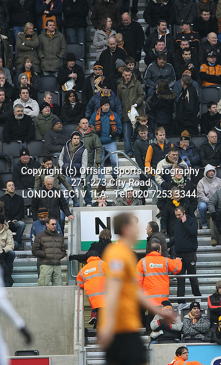 12/02/2012 Wolverhampton Wanderers v West Bromwich Albion.<br /> Wolves fans leaving in droves after the 4th Albion goal.<br /> Photo: Mark Leech.