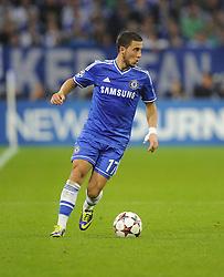 Chelsea's Eden Hazard - Photo mandatory by-line: Joe Meredith/JMP - Tel: Mobile: 07966 386802 22/10/2013 - SPORT - FOOTBALL - Veltins-Arena - Gelsenkirchen - FC Schalke 04 v Chelsea - CHAMPIONS LEAGUE - GROUP E