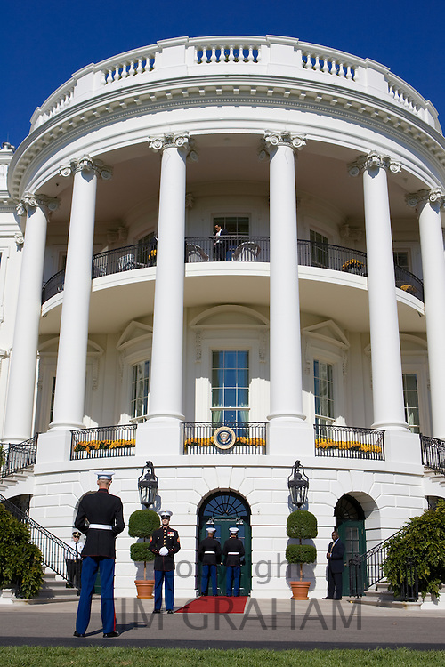 US marinesceremonial duty at The White House, Washington DC