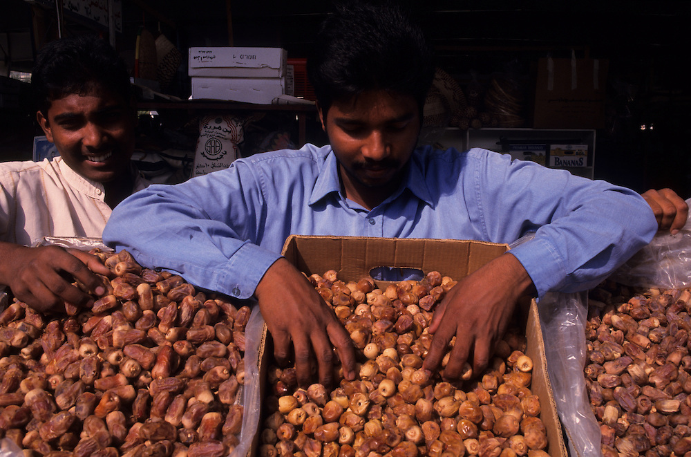 Qatar, Middle East, Asia, the shabi market of Doha, dates.