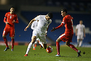 Dominic Solanke (Vitesse Arnhem, loan from Chelsea), England U21 during the UEFA European Championship Under 21 2017 Qualifier match between England and Switzerland at the American Express Community Stadium, Brighton and Hove, England on 16 November 2015.
