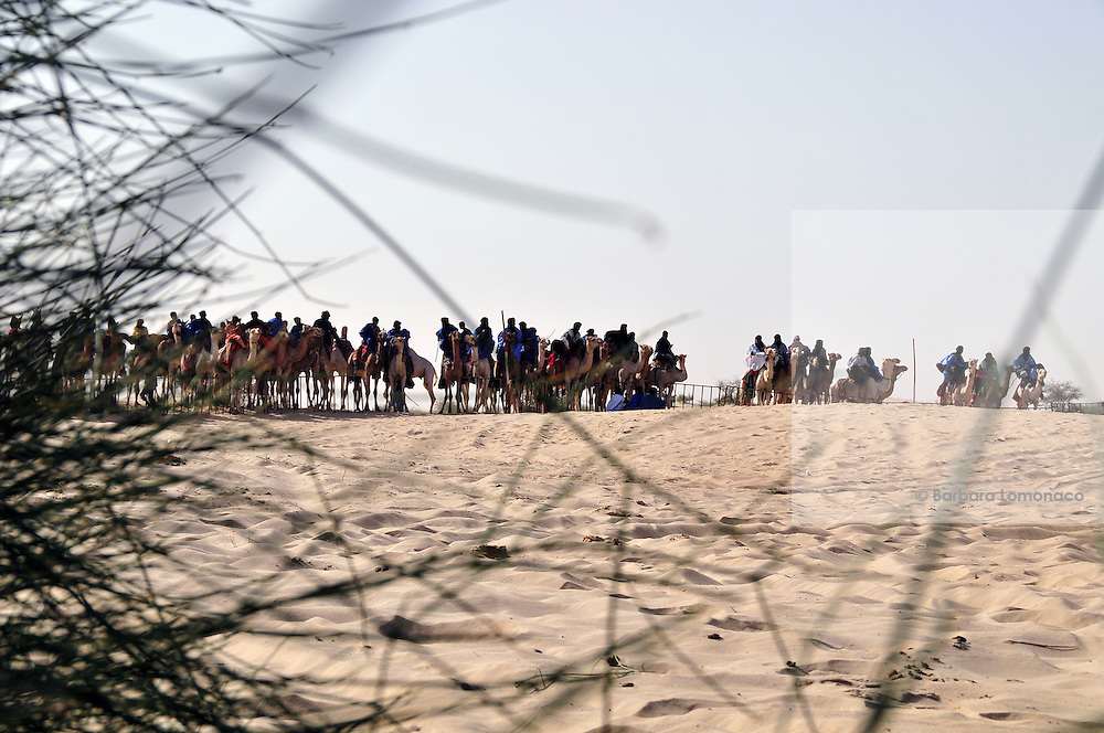 The 10th edition camels race of the Festival au Désert, Timbuktu.