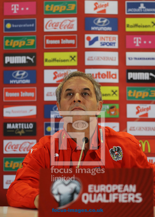 Marcel Koller pictured during the Austria Press Conference at the Aviva Stadium, Dublin<br /> Picture by Lorraine O'Sullivan/Focus Images Ltd +353 872341584<br /> 10/06/2017
