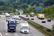 Europa, Deutschland, Nordrhein-Westfalen, Ruhrgebiet, Wetter-Volmarstein, die Autobahn A1 in Fahrtrichtung Dortmund. - <br /> <br /> Europe, Germany, North Rhine-Westphalia, Ruhr area, Wetter-Volmarstein, the Autobahn A1 in direction to Dortmund.