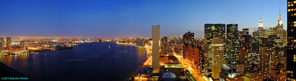 nyc skyline for UN Plaza
