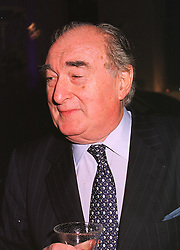 MR JARVIS ASTAIRE Deputy Chairman of Wembley Stadium, at a party in London on 9th December 1998.MMU 10