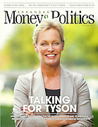 Portrait of Sara Lilygren with Tyson Foods, Inc., in Springdale, Arkansas, for a magazine cover feature.