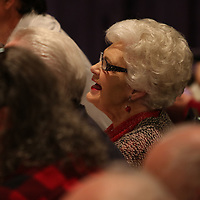 Kay Bain was one of the judges Saturday at the Tupelo Elvis Presley Fan Club's Music Scholarship competition at Elvis Presley's birthplace