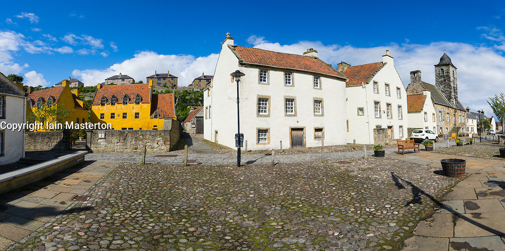 Exterior view of Culross village in Fife Scotland
