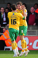 Bristol - Saturday November 7th, 2009: Grant Holt of Norwich City celebrates his opening goal during the FA Cup 1st round match at Paulton. (Pic by Alex Broadway/Focus Images)..