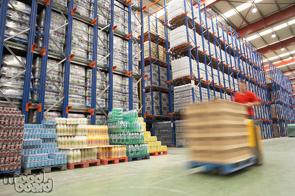 Forklift Driver in Warehouse
