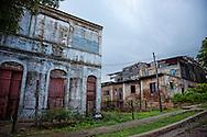 Buildings in Antilla, Holguin, Cuba.