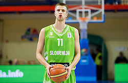 Matej Rojc of Slovenia during basketball match between National teams of Turkey and Slovenia in Qualifying Round of U20 Men European Championship Slovenia 2012, on July 17, 2012 in Domzale, Slovenia. (Photo by Vid Ponikvar / Sportida.com)