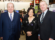 Celebrity Judge Gavin Duffy, Phil Grealish, Board member and Declan Dooley Chair of the Judging Panel at the The SCCUL Entreprise awards and Business Expo in the Bailey Allen Hall in NUIG. Photo:Andrew Downes, xposure