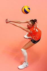 20180531 NED: Volleyball Nations League Netherlands - Brazil, Apeldoorn<br />Kirsten Knip (1) of The Netherlands, Anne Buijs (11) of The Netherlands <br />©2018-FotoHoogendoorn.nl