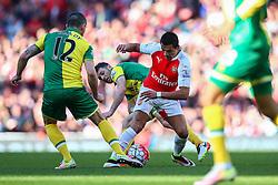Alexis Sanchez of Arsenal in action - Mandatory byline: Jason Brown/JMP - 07966386802 - 30/04/2016 - FOOTBALL - Emirates Stadium - London, England - Arsenal v Norwich City - Barclays Premier League