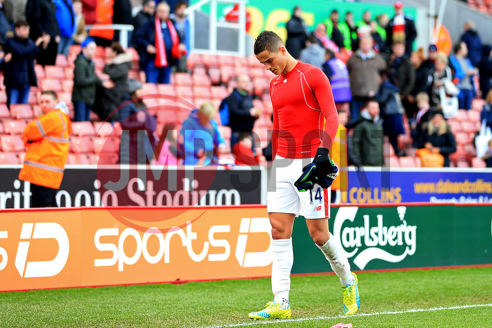 Ibrahim Afellay of Stoke City looks dejected at full time - Mandatory by-line: Matt McNulty/JMP - 02/04/2016 - FOOTBALL - Britannia Stadium - Stoke-on-Trent, England - Stoke City v Swansea City - Barclays Premier League