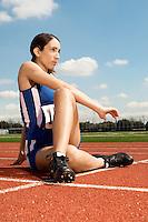 Track Athlete Stretching