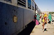 Ali Sabieh, Djibouti. Departure of the train to Ethiopia.