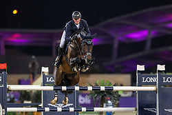 TEBBEL Maurice (GER), Don Diarado<br /> Doha - CHI Al SHAQAB 2020<br /> - Stechen -<br /> Commercial Bank CHI Al Shaqab Grand Prix presented by LONGINES<br /> Int. jumping competition over two rounds and jump-off (1.60 m)<br /> 29. Februar 2020<br /> © www.sportfotos-lafrentz.de/Stefan Lafrentz