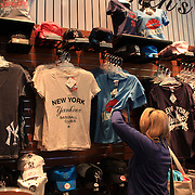 Yankee merchandise for women for sale at the Yankees store at Yankee Stadium, The Bronx, during the New York Yankees V Detroit Tigers Baseball game at Yankee Stadium, The Bronx, New York. 28th April 2012. Photo Tim Clayton