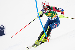 January 7, 2018 - Kranjska Gora, Gorenjska, Slovenia - Lila Lapanja of United States of America competes on course during the Slalom race at the 54th Golden Fox FIS World Cup in Kranjska Gora, Slovenia on January 7, 2018. (Credit Image: © Rok Rakun/Pacific Press via ZUMA Wire)