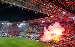 03.05.2018, Red Bull Arena, Salzburg, AUT, UEFA EL, FC Salzburg vs Olympique Marseille, Halbfinale, Rueckspiel, im Bild Uebersicht Choreographie // during the UEFA Europa League Semifinal, 2nd Leg Match between FC Salzburg and Olympique Marseille at the Red Bull Arena in Salzburg, Austria on 2018/05/03. EXPA Pictures © 2018, PhotoCredit: EXPA/ JFK